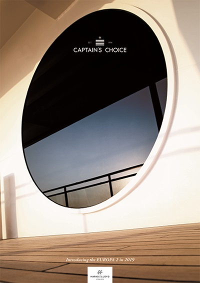 Captain's Choice Hapag Lloyd Introducing the Europa 2 in 2019, brochure cover