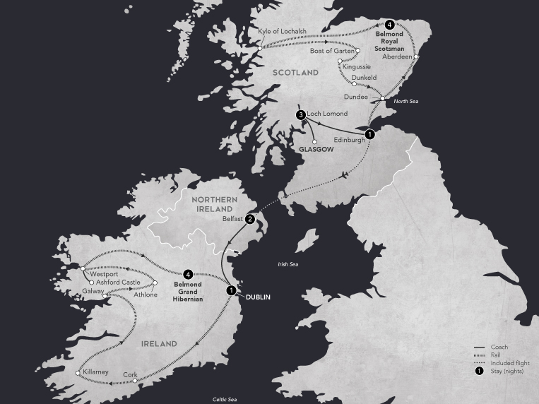 Following Tracks Through Celtic Lands 2019 Map