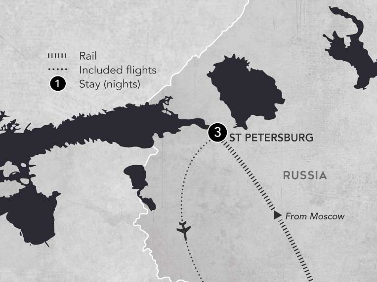 St Petersburg post tour 2019 map
