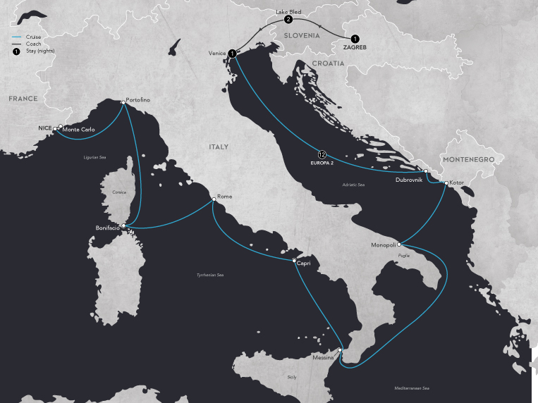 The Good Life on the Mediterranean 2019 map - Land only