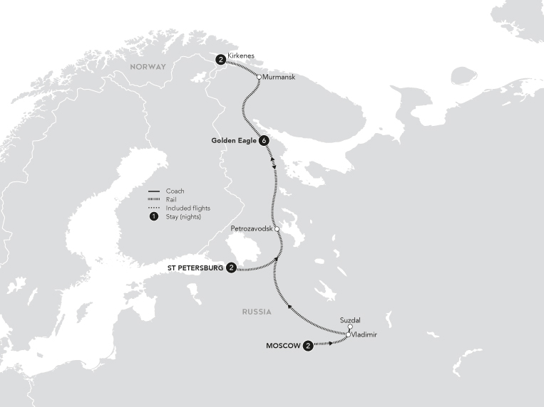 revised Russian discovery map